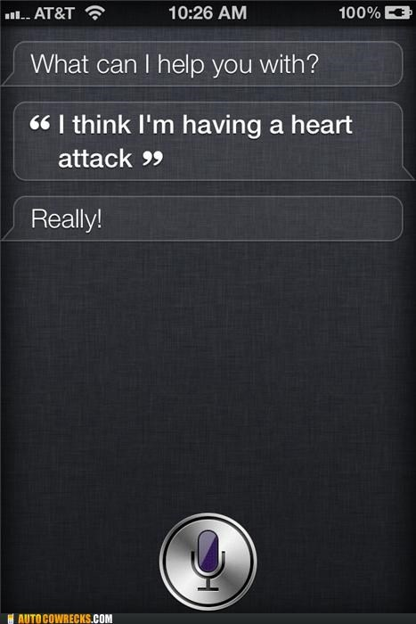 emergency health heart attack siri unhelpful