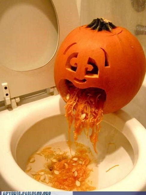 drunk guts Hall of Fame halloween pumpkins spew toilet vomit