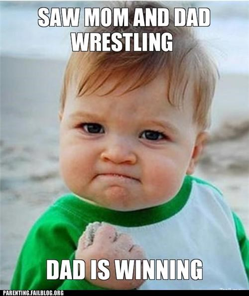 baby naïve Parenting Fail sand sexy times success baby wrestling