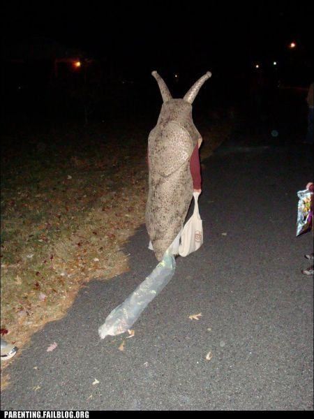 autumn,costume,fall,halloween,Parenting Fail,Sad,slime,slug,snail