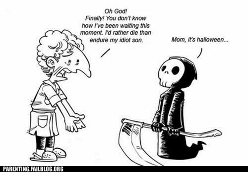 cartoons,comic,costume,Death,grim reaper,Hall of Fame,halloween,make it stop,Parenting Fail
