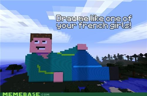 diamonds,draw,minecraft,one of your french girls,video games