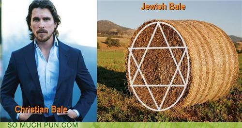 bale,christian,christian bale,double meaning,hay,jewish,literalism,star of david,symbol