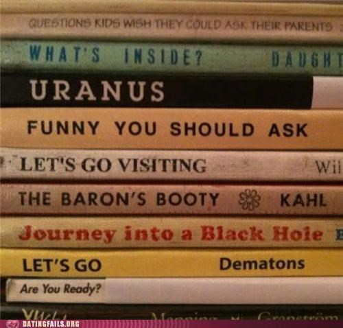 black hole books double entendres puns titles uranus We Are Dating - 5312727040