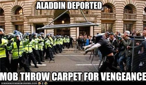 ALADDIN DEPORTED MOB THROW CARPET FOR VENGEANCE