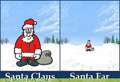 close far literalism opposites santa santa claus similar sounding