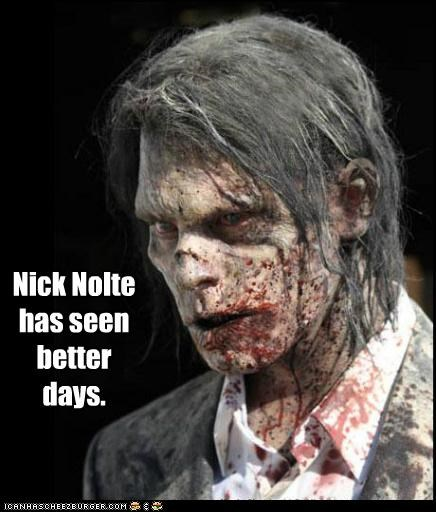 better days Nick Nolte seen The Walking Dead zombie - 5314669056