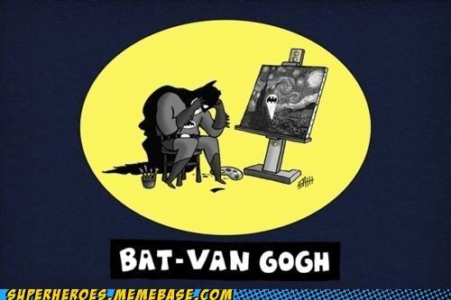 art Awesome Art batman Van Gogh - 5314720768
