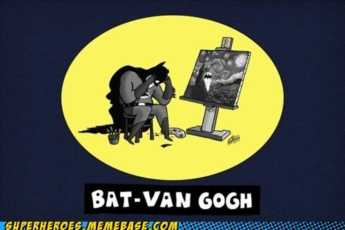 art Awesome Art batman Van Gogh - 5314720768