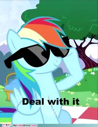 best of week Deal With It episode 3 meme rainbow dash sunglasses - 5315280128