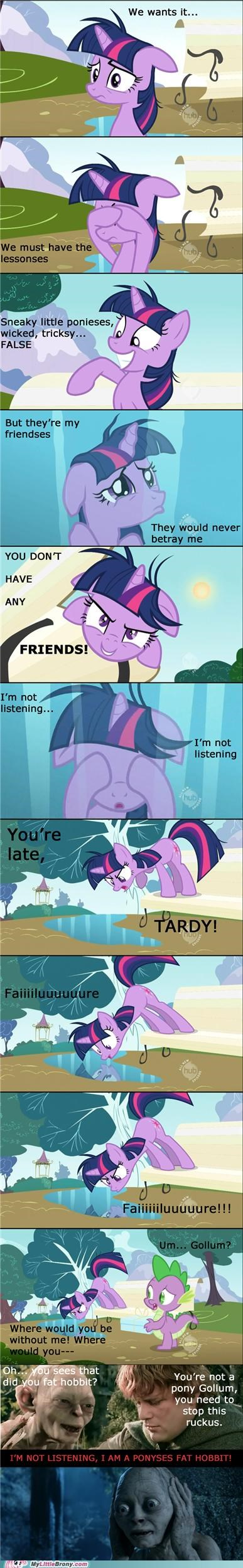 best of week comic comics gollum im not listening Lord of the Rings ponies twilight sparkle - 5315508224
