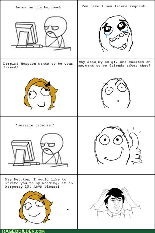 ex girlfriend facebook Rage Comics wedding - 5315510528