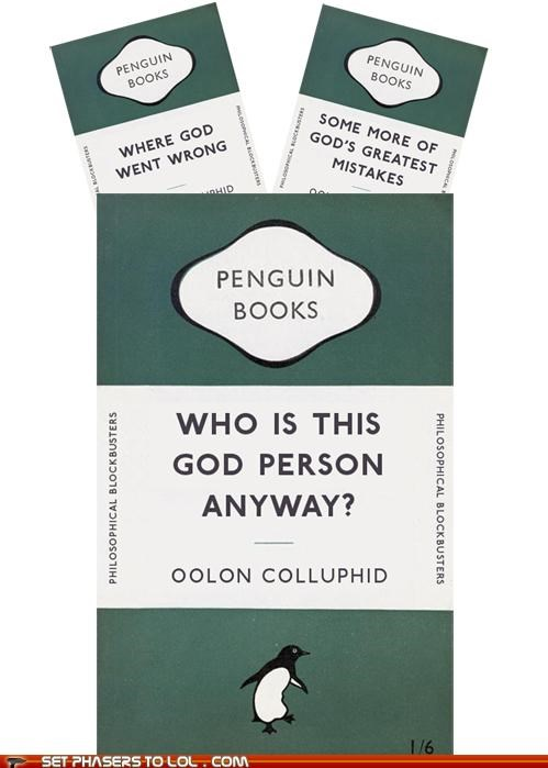 books god Hitchhikers Guide To the Galaxy penguin - 5315528448