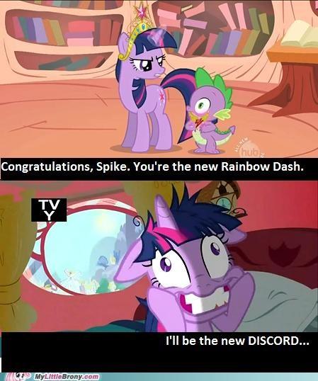 discord meme rainbow dash season 2 spike twilight sparkle - 5315540736