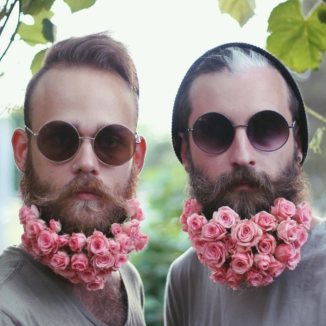 flower beards instagram beards cheezcake funny - 5315845