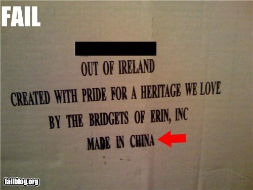 China failboat g rated Hypocrisy Ireland made in china national pride - 5316781824