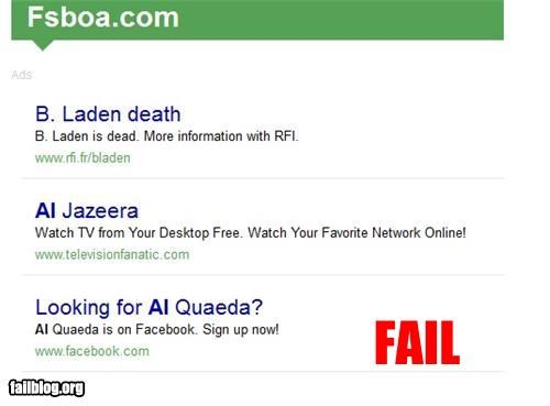 al quaeda,facebook,failboat,g rated,Osama Bin Laden,The Terrorists Won