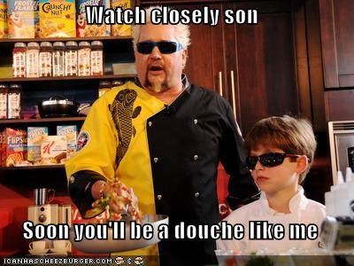 chef,child,cooking,douche,douche bad,Guy Fieri,roflrazzi,sunglasses