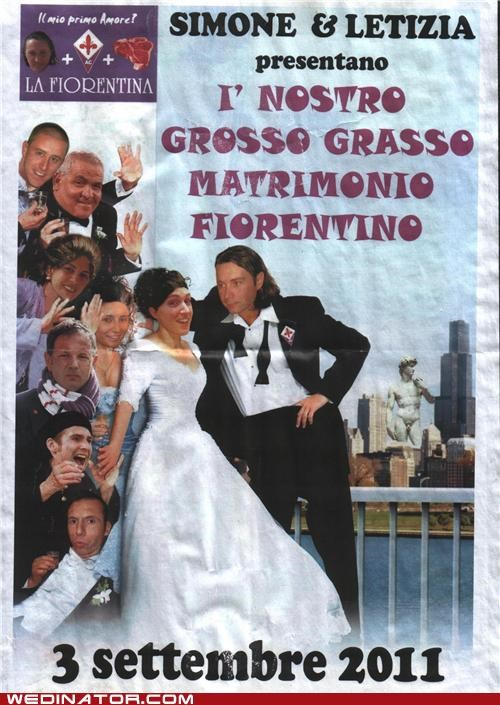 florentine funny wedding photos invitations Italy my big fat greek wedding