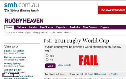 failboat,g rated,poll,rugby,sports,stupidity