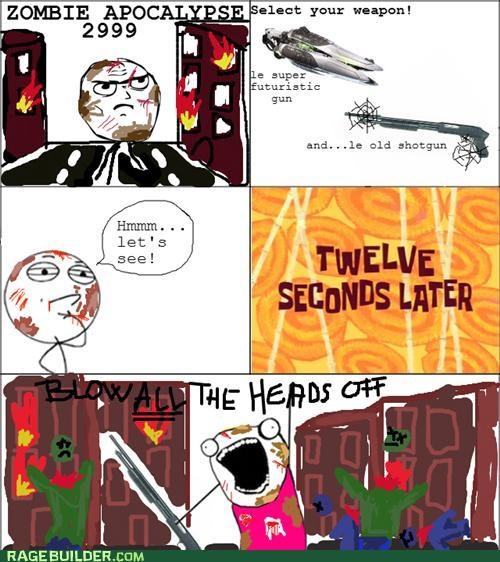 all the things Rage Comics shotgun zombie - 5318714880