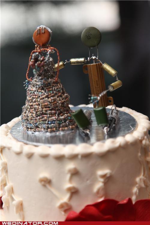 wedding cake cake topper - 5319492096