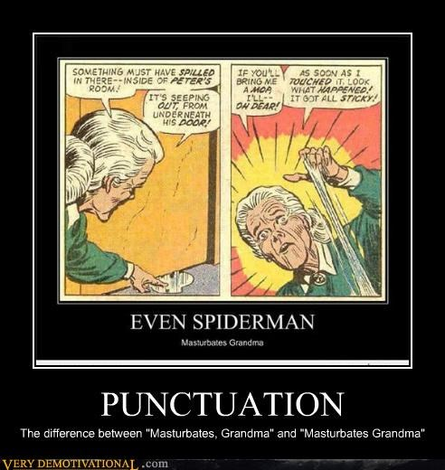 Aunt May grammar nazi grandma punctuation Pure Awesome - 5320148224