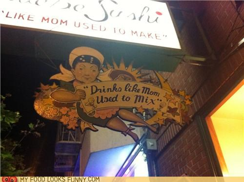 alcohol bar booze mom sign