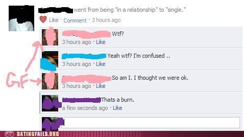breaking up,facebook,facebook status,relationship,We Are Dating