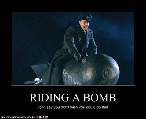 Image result for guy riding a nuke