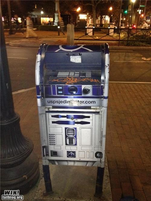 Artoo,hacked irl,mail box,nerdgasm,r2-d2,star wars