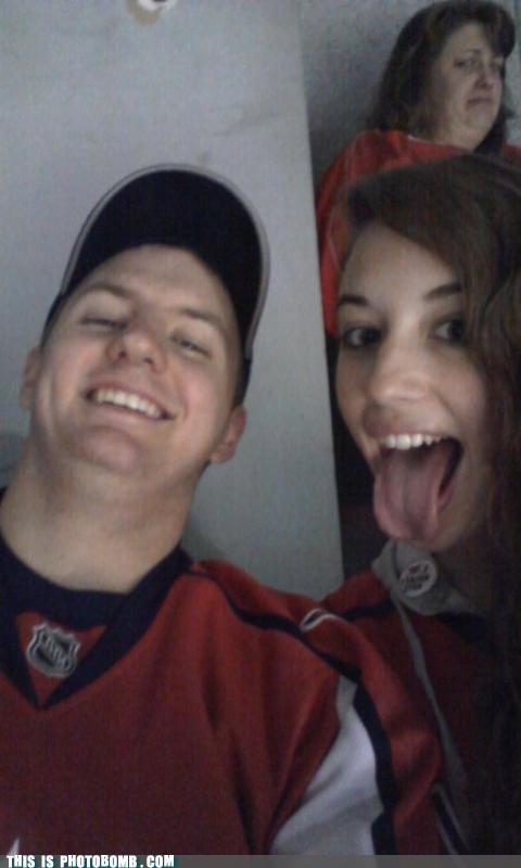 disgusting girl Good Times hockey NHL tongue - 5321533184