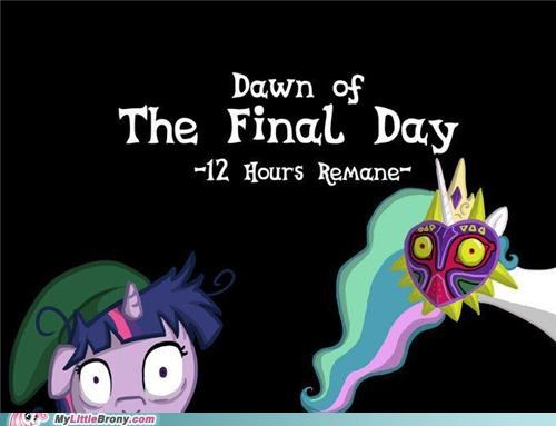 art,clock,majoras,mask,trollestia,twilight sparkle,zelda