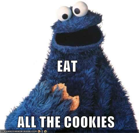 all the things,Cookie Monster,cookies,Sesame Street