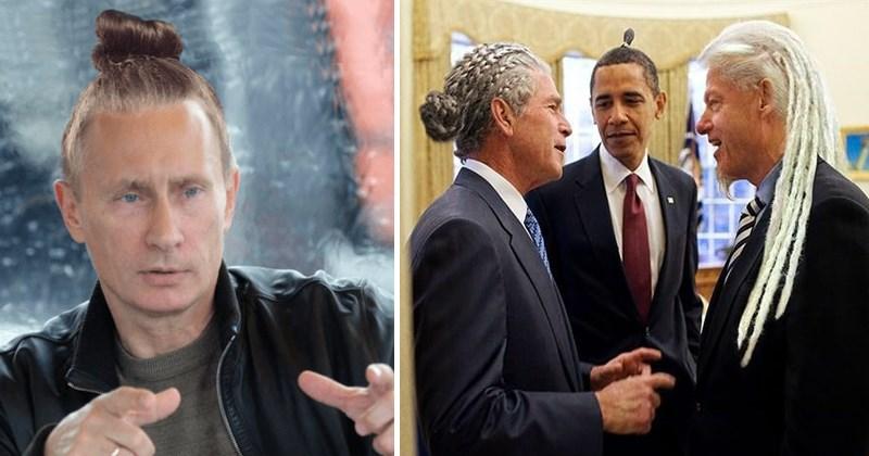 donald trump design photoshop Memes barack obama Vladimir Putin politics - 5321989