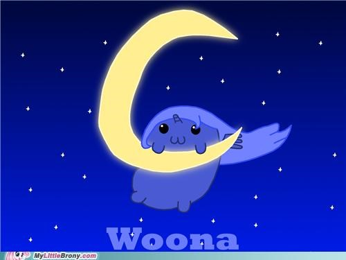 art,best of week,cute,dawwwww,luna,the moon,woona