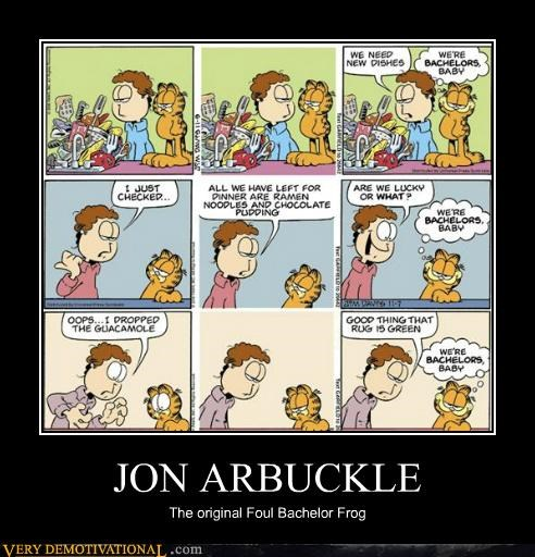 foul bachelor frog,garfield,Hall of Fame,hilarious,john arbuckle