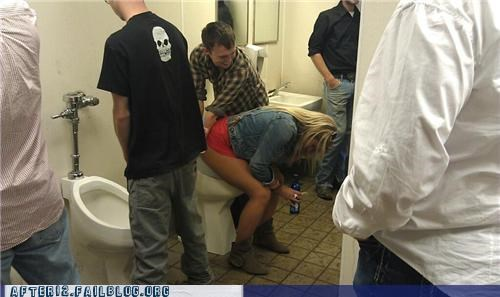 bathroom drunk gender issues ladies peeing wrong place