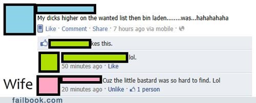 bin Laden,genitals,oh snap,wife