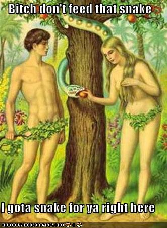 adam and eve historic lols innuendo pervert snake temptation - 5323030528