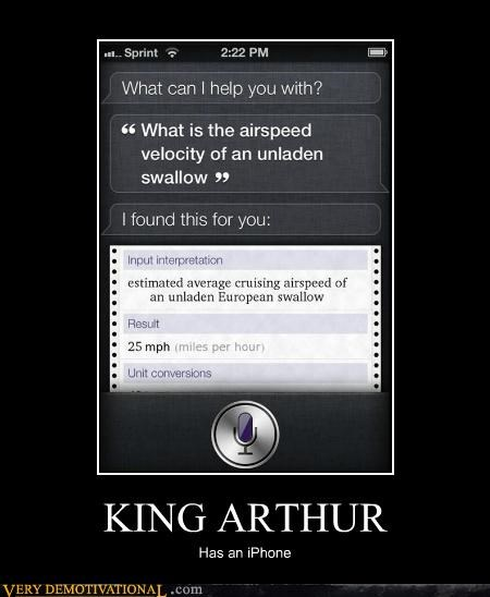 KING ARTHUR Has an iPhone