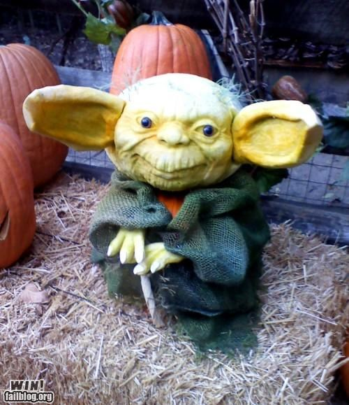autumn Hall of Fame halloween nerdgasm october pumpkins star wars yoda - 5323189504