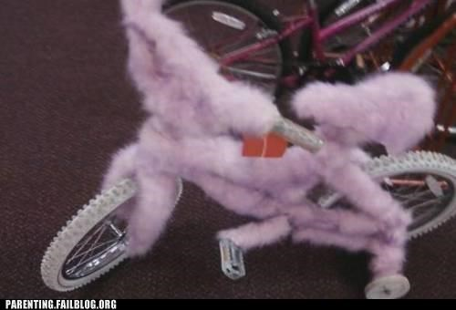 bike fuzzy girly lock naughty or nice Parenting Fail pink toy wait what - 5323190528