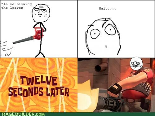 leaf blower,me gusta,Rage Comics,team fortress,TF2