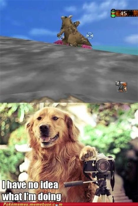 comic,dogs,gameplay,kangaskhan,nintendo 64,pokemon snap