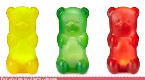 colorful decor gummy bears lamps light