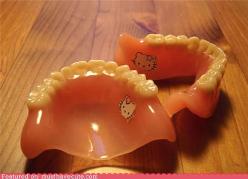 branded,dentures,hello kitty,tattoo