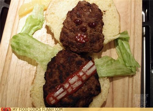 burger,chewbacca,chewy,lettuce,meat,star wars