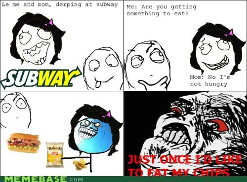 chips food Rage Comics Subway - 5323368960