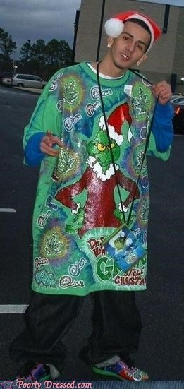 christmas,festive shirt,grinch,straight hood